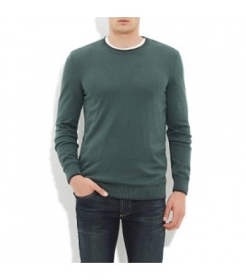 Blue Sweater | Crew Neck Sweater Forest Green 070256-21584