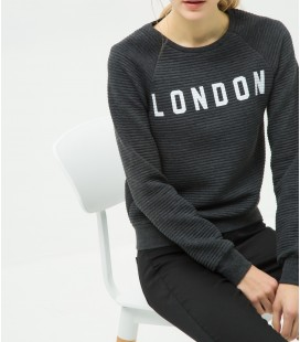 Cotton relaxed fit, scoop-neck, long-sleeved Sweatshirt 6YAL11374JK999