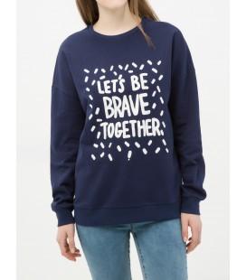 6YAL11448JK746 women's printed cotton Sweatshirt