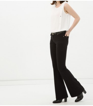 Classic Fit cotton-Arched, Flat, Normal waisted pants 6YAK47337OW999