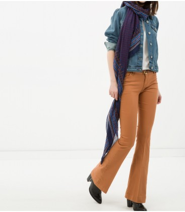 Classic Fit cotton-Arched, Flat, Normal waisted pants 6YAK47337OW100