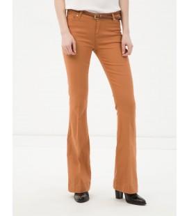 Koton Kemerli Klasik Kesim, Düz, Normal Bel Pantolon  6YAK47337OW100