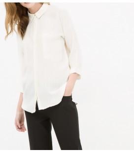 A classic cotton collar, slim fit, long sleeve shirt 6YAK63197EWK75