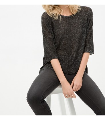 Cotton scoop-neck, long sleeves, Classic Fit, medium-sized Sweater 6YAK94709GT999