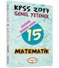 KPSS 2017 Matematik Çözümlü 15 Deneme Sınavı Yediiklim