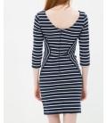 Hollow collar stripe cotton women's Dress 6YAK82815YKZ94