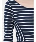 Koton Kadın Oyuk Yaka Çizgili Elbise 6YAK82815YKZ94