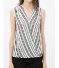 Women's striped cotton Sleeveless Blouse 6YAK32871UW18N