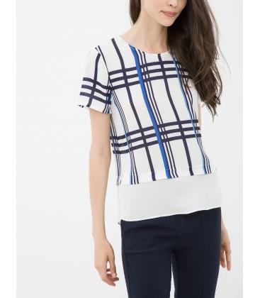 Women's Short Sleeve Plaid cotton Blouse 6YAK62360UW21T