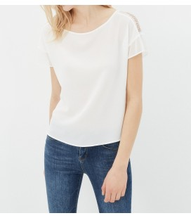 Koton Kadın Beyaz Omuz Detaylı Bluz 7YAK63778EW001