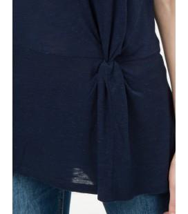 Koton Kadın Kısa Kollu, Oyuk Yaka T-Shirt 6YAK13767EK720