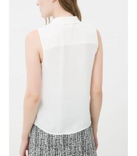 A plain white cotton shirt women's Sleeveless 7KAK62376UW001