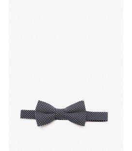 Detailed cotton Polka-Dot bow tie 8KKB90018GA02C