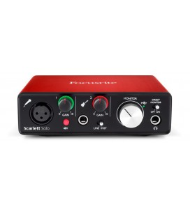 Audio interface Focusrite SCARLETT SOLO 2ND GEN Monitor controlling, incl. software