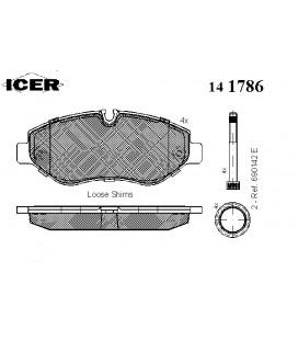 İcer Sprinter II Crafter Fren Balatası 141786 203 90R 01111/1674