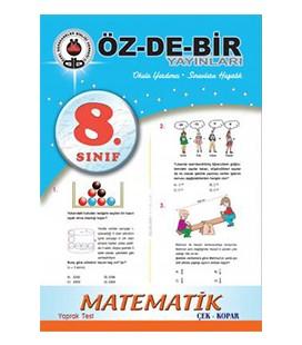 8. Sınıf Matematik Çek Kopar Yaprak Test Özdebir Yayınları