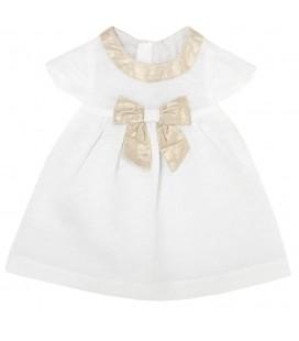 Chicco Bebek Elbisesi, Kısa Kollu, Beyaz Altın, 93708