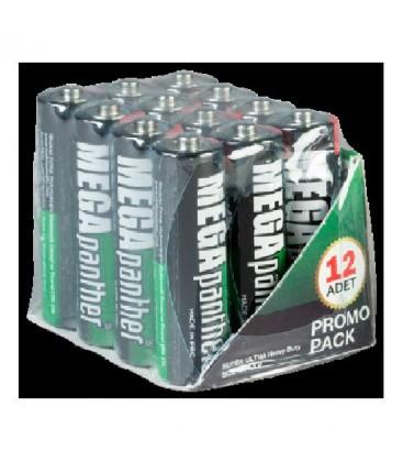 Megapanther Kalem Pil AA 1.5v 12 li Paket R6V12