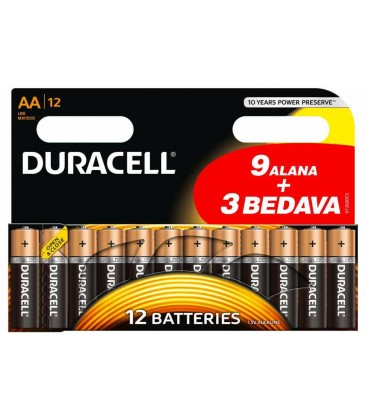 Duracell Kalem Pil (AA) 12'Li