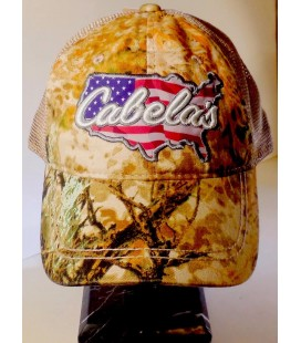 Cabelas Americana Zonz Yurtsever Kamuflaj Mesh Şapka CA108233