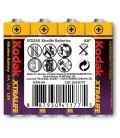 Kodak Xtralife 4 adet Alkalin Kalem Pil-AA Shrink KAA-S4