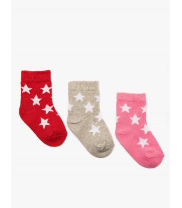 Koton 3 Packs Baby Girl Socks  8YMG84008AA909