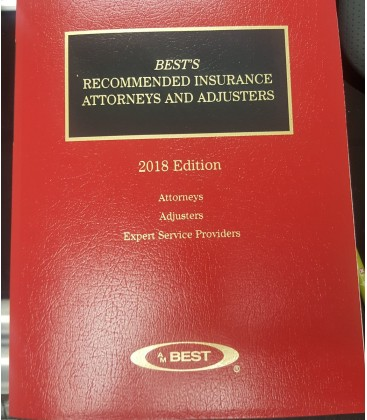 NEW 2018 Bests Recommended Insurance Attorneys and Adjusters Paperback Book