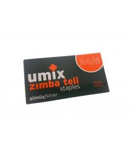 Umix Zımba Teli 24/6 Gümüş 3 Paket U2214B3