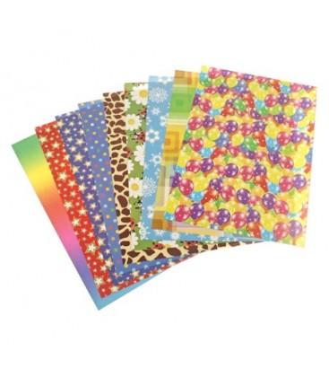 Keskin Color 9 Lu Karışık Desenli Elişi Kağıdı - A4