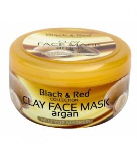 BLACK - RED Argan Yağlı Killi Yüz Maskesi 400gr