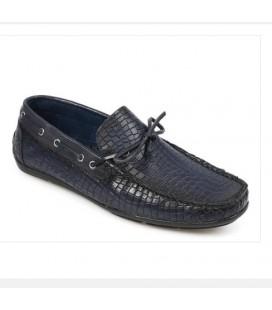 Erkek Lacivert Deri Loafer Ayakkabı  5179430403200