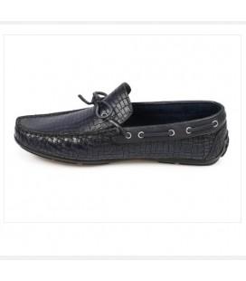 City Life Erkek Lacivert Deri Loafer Ayakkabı  5179430403200