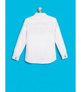 Koton Papyon Detaylı Klasik Kesim, Uzun Kollu Gömlek  8KKB66060TW000