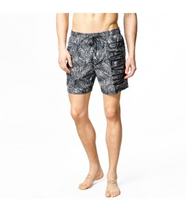 Calvin Klein Medium Drawstring Jungle Print Black Erkek Şort