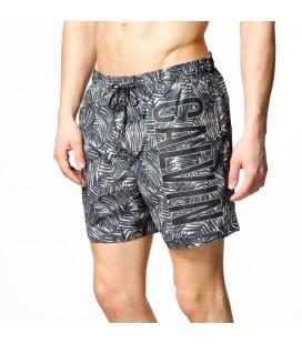 Calvin Klein Medium Drawstring Jungle Print Black Erkek Şort