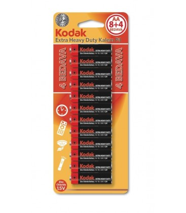 Kodak AA 12 Adet (8+4) Blisterli Heavy Duty Kalem Pil 30413078