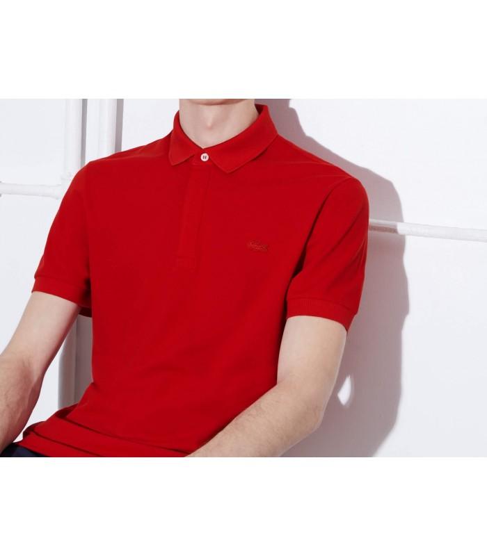 Kırmız Regular Fit Lacoste Yaka Tişört Ph5522 240 Polo Erkek W9I2DEH