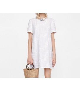Zara Woman Beyaz Bayan Elbise 4786 077