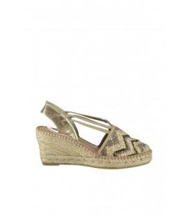 Derimod Hakiki Deri Altın Rengi Kadın Dolgu Topuklu Ayakkabı 17SFD106914