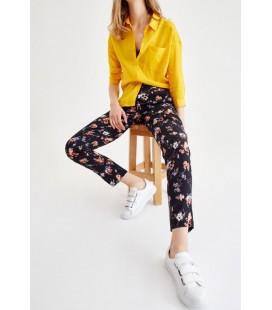 Oxxo Bayan Çiçek Desenli Bol Pantolon VISCARDES
