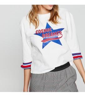 Koton Bayan Yazılı Baskılı T-Shirt 8YAL11066JK001