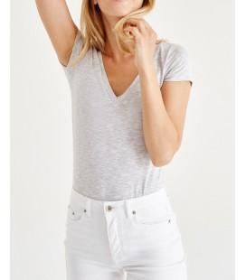 Oxxo Kadın Gri Melange T-Shirt OX-VISVEYAK17K