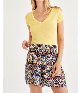 Oxxo Sarı Kadın Santol T-Shirt OX-VISVEYAK17K