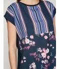 Koton Bayan Desenli T-Shirt 8YAK33465GKA04