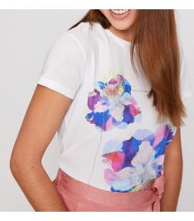 Koton Kadın Beyaz Kısa Kollu Bisiklet Yaka T-Shirt 8YAK13691EK