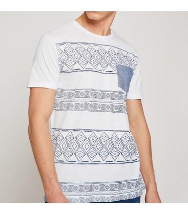 Koton Erkek Desenli T-Shirt 8YAM11314CK000