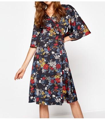 Koton Kadın Çiçekli Elbise 8KAF80292FW07D