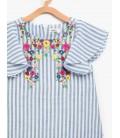 Koton Çizgili Elbise 8YKG87426OW01M