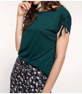 DeFacto Kadın Omuzları Büzgü Detaylı T-shirt I9493AZ GN465