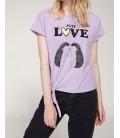 DeFacto Kadın Bağlama Detaylı Baskılı T-shirt J0376A PR251